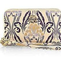 Nwt Tory Burch Robinson Ivory Floral Printed Iphone Case Wallet Clutch Phone Photo