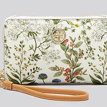 Nwt Tory Burch Robinson Ivory Garden Printed Iphone Wallet Clutch Floral 125 Photo