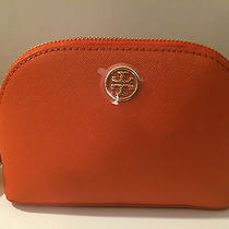 Nwt Tory Burch Robinson Small Makeup Bag Blood Orange Photo