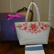 Nwt Tory Burch Rodeo Ew Tote With Tory Gift Box Photo