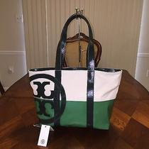 Nwt Tory Burch Small Zip Beach Tote in Green Photo