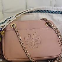 Nwt Tory Burch Thea Messenger Cross Body Chain Porcelain Pink Leather Bag 375 Photo
