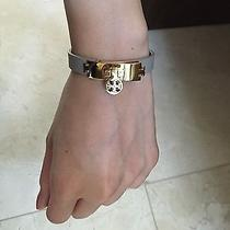Nwt Tory Burch Turnlock Leather Bracelet Grey Limited Color  Photo