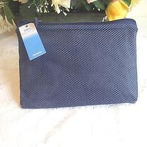 Nwt Totes Elements Navy Blue Water Resistant Poncho Mesh Carry Case One Size Photo