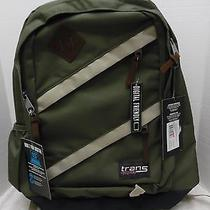 Nwt Trans by Jansport Backpack Green Work School Overnight Bag 15