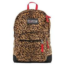 Nwt Trans by Jansport Plush Leopard Print Backpack Book Bag W/ 15