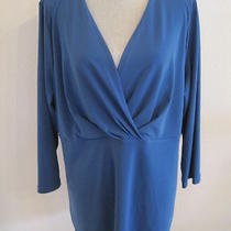 Nwt Travel Elements Teal Blue 2x Blouse Msrp 78. Photo