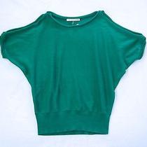Nwt Trina Turk Emerald Green Cut Out Shoulder Dolman Sleeve Sweater Top M 8 10 Photo