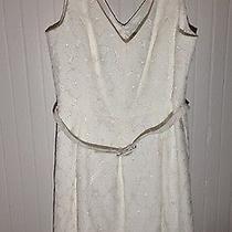 Nwt Trinka Turk White Dress - Size 12 Photo
