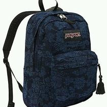 Nwt Tvp8zm0 Jansport  Fun Floral Denim Backpack - Blue Jean Photo