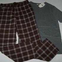 Nwt Ugg 95 Port Wine Plaid Gray Grant Pajama/lounge Set Men's Xl Short Sleeves Photo