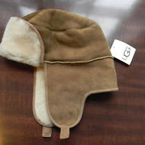 Nwt Ugg Australia Youth Aviator Bailey Trapper Chestnut Hat Authentic Shearling  Photo