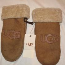 Nwt Ugg Chestnut Brown Shearling Mittens S/m (6-7) Photo