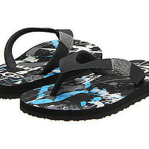 Nwt Ugg Kids Paint Splatter Flip Flops Black Sz 12 Photo