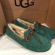 Nwt Ugg Women's Dakota Blue  Sheepskin Moccasin Slippers Womens Size 7 Photo