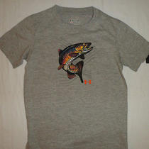 Nwt Under Armour Fish Fishing Logo Boys Heatgear Tee T Shirt Top Clothes Sz 4 4t Photo
