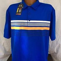 Nwt Under Armour Heat Gear Loose Golf Polo Size Large Sanctuary Golf Club Logo Photo