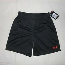Nwt Under Armour Little Boys Black Shorts Size 6 Photo