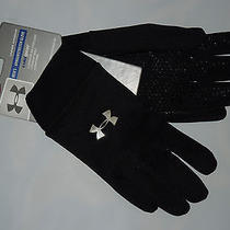 Nwt Under Armour Mens  Gloves Large  Black Armour Stretch  Cold Gear  Photo