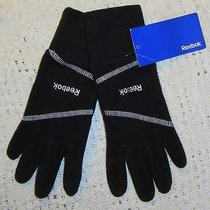 Nwt Unisex Reebok Microfleece Black Runners Gloves - Size S / M Photo