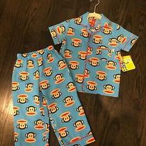 Nwt Unisex Toddler Paul Frank Julius Jr Blue Poly Short Sleeve Pajamas Size 3t Photo