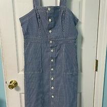 Nwt Universal Thread Goods co.jumper Dress Size 12  Denim Blue White Stripe Photo