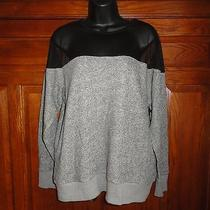 Nwt Urban Outfitters Bycorpus Heather Grey Mesh Trim Sweatshirt Shirt Sz M Photo