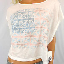 Nwt Urban Outfitters Chaser Union Jack Fender Flag Boxy Tee Size Small Photo