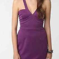 Nwt Urban Outfitters Silence & Noise Ponte Cross-Back Purple Bustier Dress Sz L Photo