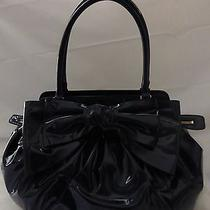Nwt Valentino Lacca Bow Double Handle Shoulder Bag 1395 Photo
