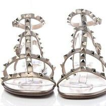 Nwt Valentino Rockstud Gladiator Sandal Bronze 37.5 Photo
