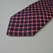 Nwt Valentino - Roma Pure 100% Silk Tie Plaid Motif Photo