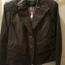Nwt Valerie Stevens Brown Crop Leather Blazer Size S New With Tags Photo