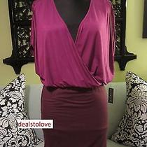 Nwt Velvet by Graham & Spencer Cullan Color Block Purple Murano Tee Dress Medium Photo