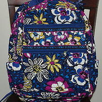 Nwt Vera Bradley  African Violet  Tech Backpack Laptop Campus   Photo