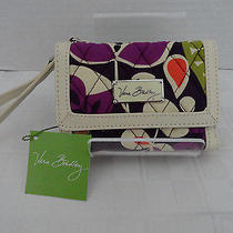 Nwt Vera Bradley - Anniversary Wallet Wristlet Plum Crazy - Retail 68 Free Ship Photo