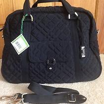 Nwt Vera Bradley Black Microfiber Travel Bag Photo