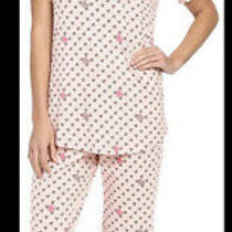 Nwt Vera Bradley Blush Hearts Pajama 2 pc.set Xs Pink Knit- Free Shipping Photo