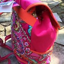 Nwt Vera Bradley Breast Cancer Awareness Canvas Backpack Pink Swirls Photo