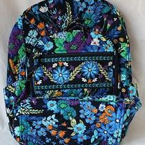 Nwt Vera Bradley Campus Backpack in Midnight Blues Photo