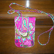 Nwt Vera Bradley Cell Phone Crossbody Pink Swirls Free Shipping Photo