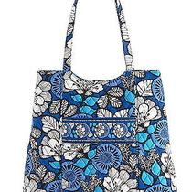 Nwt Vera Bradley Curvy Tote in Blue Bayou 13550159 Reg. 68 Photo