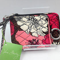 Nwt Vera Bradley - Double Id Wristlet - Wallet - Mocha Rouge  Free Shipping Photo