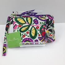 Nwt Vera Bradley - Double Id Wristlet  Wallet - Viva La Vera Free Shipping Photo