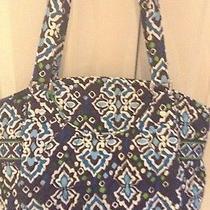 Nwt Vera Bradley Glenna Satchel Shoulder Bag Tote Ink Blue Photo