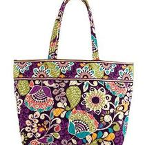 Nwt Vera Bradley Grand Tote - Plum Crazy  Photo
