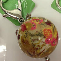 Nwt Vera Bradley Have a Ball Key Chain Ring Charm Mother's Day Graduation Gift Photo