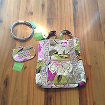 Nwt Vera Bradley Hipster Belt & Matching Clip Zip Id-Portobello Road Photo