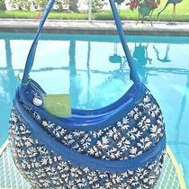 Nwt Vera Bradley Hotsy Totsy Frills Hobo Purse Bag in Blue Lagoon Pattern Htf Photo