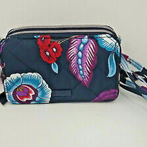 Nwt Vera Bradley Iconic Rfid All in One Crossbody Mayfair in Bloom  Photo